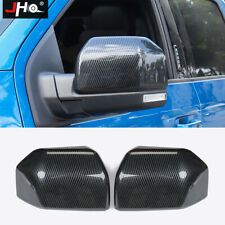 ABS Carbon Fiber Grain Side Mirror Cover Trim For Ford F150 2015-2019 Raptor 18