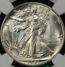 1941-S Walking Liberty Half: NGC MS-65+, full skirt lines, head and thumb. Rare!