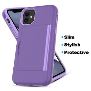 For iPhone 11/ 11 Pro / 11 Pro Max / iPhone SE (2020) Case, Card Holder Case