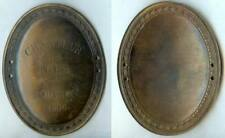 Plaque de métier - AVIGNON 1906 chanteur des rues d=107x82 mm