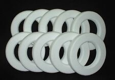 "10 pc. EPS Polystyrene WREATHS 12""X2"" White Craft Styrofoam Floral Wedding Ring"