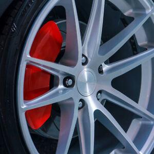 MGP Classic Red Brake Caliper Covers Fits 2020 2019 Chevy Silverado 1500