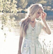 Suzabelle Boutique Designer Marina Dress S, Or L Green Clover Stripe Women's