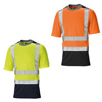 Dickies Two Tone Hi Vis T-Shirt Mens Short Sleeve Work Tee PPE SA22081