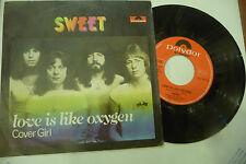 "THE SWEET""LOVE IS LIKE OXYGEN-disco 45 giri POLYDOR Italy  1978"" GLAMROCK"