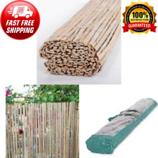 6 Ft x 16 Ft Natural Raw Split Bamboo Garden Fencing Privacy Screens & Gates