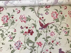 LAURA ASHLEY SUMMER PALACE CRANBERRY FABRIC REMNANT