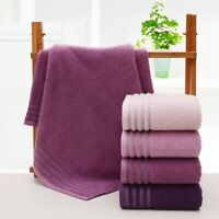 Pink Purple Bath Towel Cotton Solid Quick-Dry Beach Bathroom Wash Robe 140X70cm
