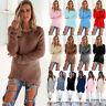 Women Ladies Warm Long Sleeve Sweater Fur Sweatshirt Jumper Pullover Tops Blouse