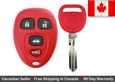 1x Red Replacement Keyless Entry Remote Control Key Fob For Chevy Buick Pontiac