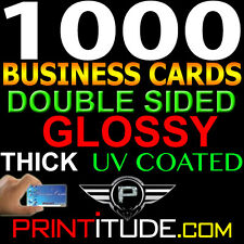 CUSTOM DESIGNED 1000 FULL COLOR THICK DOUBLE SIDED UV GLOSSY BUSINESS CARDS