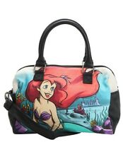 Disney The Little Mermaid Ariel Water Color Canvas Loungefly Hand Bag Purse NWT!