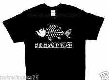 FILLET AND RELEASE black Funny T-Shirt Heavyweight Ultra cotton TShirt