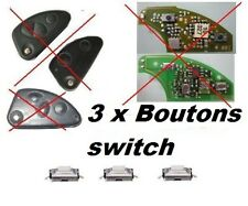 3 BOUTONS SWITCH COQUE CLE PILP ALPHA ROMEO 147, 156, 166