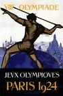 Olympics Games Paris 1924 Javelin Throw Spear Sport Vintage Poster Repro FREE SH