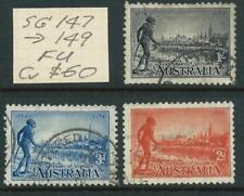 AUSTRALIA 1934 VIC Cent Set to 1/- 'BLACK'' (Perf. 10.5)  SG147/149 GU [5993]
