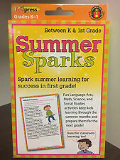 Summer Sparks Educational Materials between K & 1st Grade Edupress learning tool