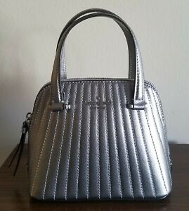 Kate Spade PATTERSON DRIVE QUILTED Mini Dome Satchel Pebble Leather Crossbody