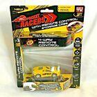 RC Pocket Racers Yellow Fury Micro Car 4-Way Remote Control