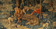 """perfect 48x24 oil painting handpainted on canvas """"The Elephant Hunt""""@NO9501"""