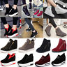 New Women's Casual Platform Shoes Hidden Wedge Ankle Boots Sneakers HighTop