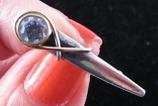 SMALL STERLING 18K GOLD HALLEYS COMET PIN WITH CZ STONE