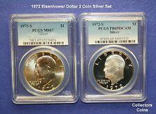 1972-S $1 Eisenhower 2 Silver Coin PCGS DCAM69 Proof & PCGS 67 Set @ Wholesale