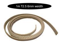 T2.5 Breite 6mm Stahlkern Zahnriemen pro Meter. Versand gleicher Tag