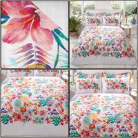 TROPICANA Tropical Floral Colourful Reversible Duvet Cover Set Bedding Set Multi