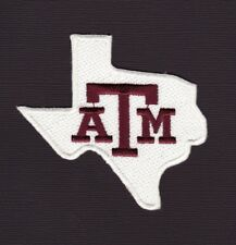 """Texas A&M Aggies 3"""" Embroidered Iron On Patch *New*"""