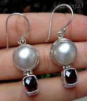 Gemstone Solid Silver, 925 Bali Handcrafted Earring 35151