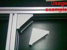 Aluminum T-slot 4080/8080 profile 90 deg corner bracket 80x80-8mm, 4-set