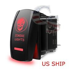 Red Laser Etched LED zombie 12V 20A 10A 5-pin Rocker Toggle Switch Car Marine