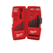 Milwaukee 48-89-2803 Precision Thunderbolt Black Oxide Drill Bit Set, 15-Pieces