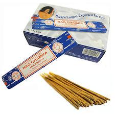 ~ Incienso Nag Champa Caja De Fragancia Satya Natural 12 paquetes palos 15gm Aroma Venta
