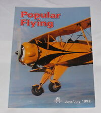 "POPULAR FLYING MAGAZINE JUNE/JULY 1992 - ""PAN! PAN! PAN!"""