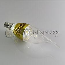 Bombilla 3W LED E14 Vela larga Blanco Calido Color Oro 220V 240 lumen euiv.25W