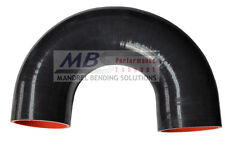 """SILICONE COUPLER 180 DEGREE 3"""" BLACK 5 PLY HOSE INTAKE TURBO MBS"""