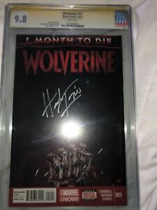 DEATH OF WOLVERINE #12 CGC 9.8 GOLD SS SIGNED BY HERB TRIMPE