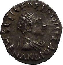 MENANDER I Soter Indo Greek Kingdom India 155BC Athena Silver Greek Coin i52221