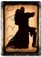 BALLROOM DANCING METAL SIGN great gift antique vintage style wall decor 249