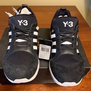 Adidas Y-3 Tomotak Running Sneakers Black & White Rare BNIB NEW Men's 8.5  UK 8