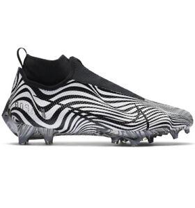 Nike Vapor Edge Pro 360 Zebra Men Size 10 Football Cleats White Black AO8277-109