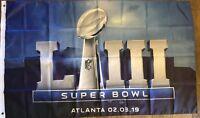 SUPER BOWL 53 LIII Flag Banner 3ft x 5ft Football Atlanta NFL Indoor Outdoor