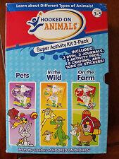 Hooked on Phonics: Hooked on Animals Super Activity Kit 3-Pack