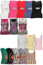 Cotton Striped Sleeveless T-Shirts for Women