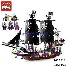 Enlighten Pirates Caribbean 1313 Black Skull Ship Figure DIY Building Block Toy