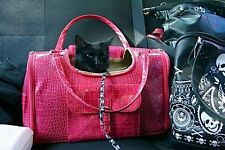 PINK Fashion Faux Crocodile Pet Dog Animal Carrier Tote Bag For Pet NEW - 548