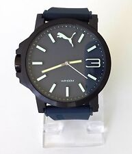 Puma Herren Uhr Ultrasize blau weiß Silikon sportlich PU103461005