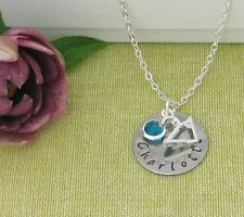 18th 21st Birthday Gift Personalized Jewelry Name Birthstone Necklace Gift Box